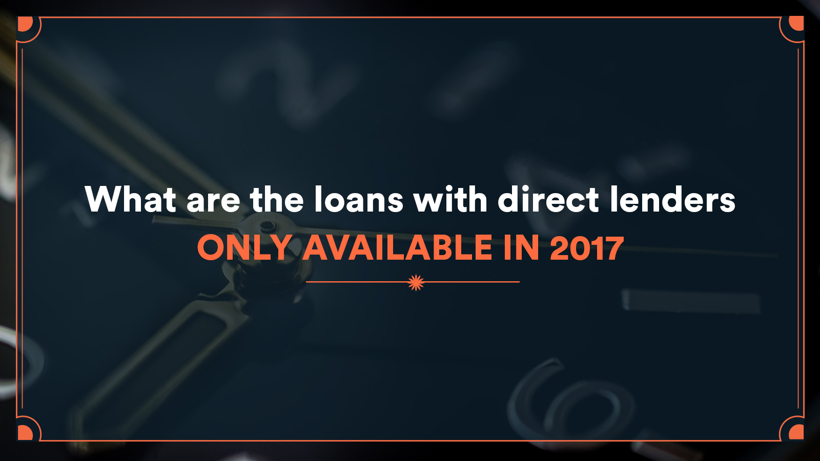 loans with direct lenders only