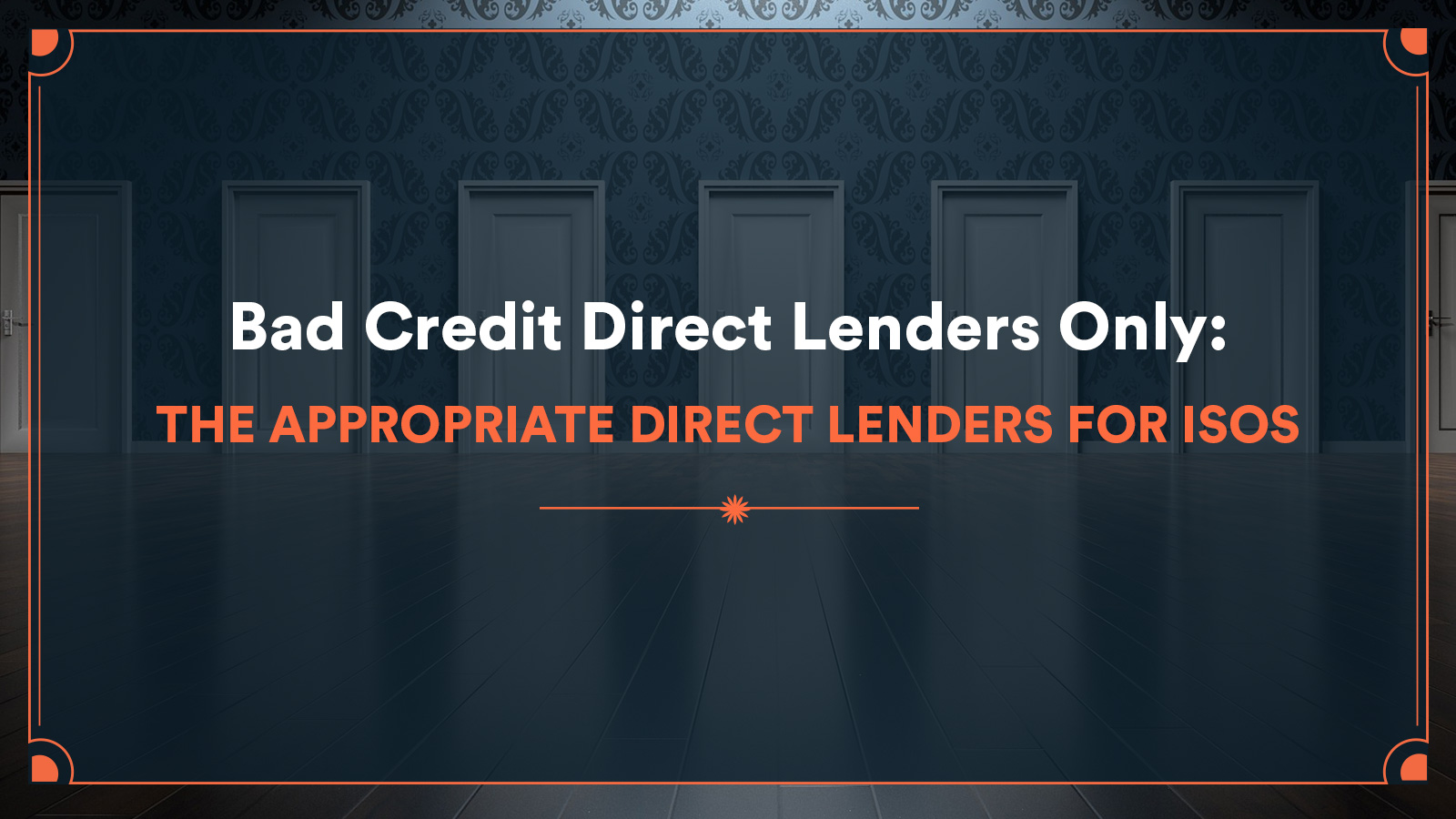 bad credit direct lenders only