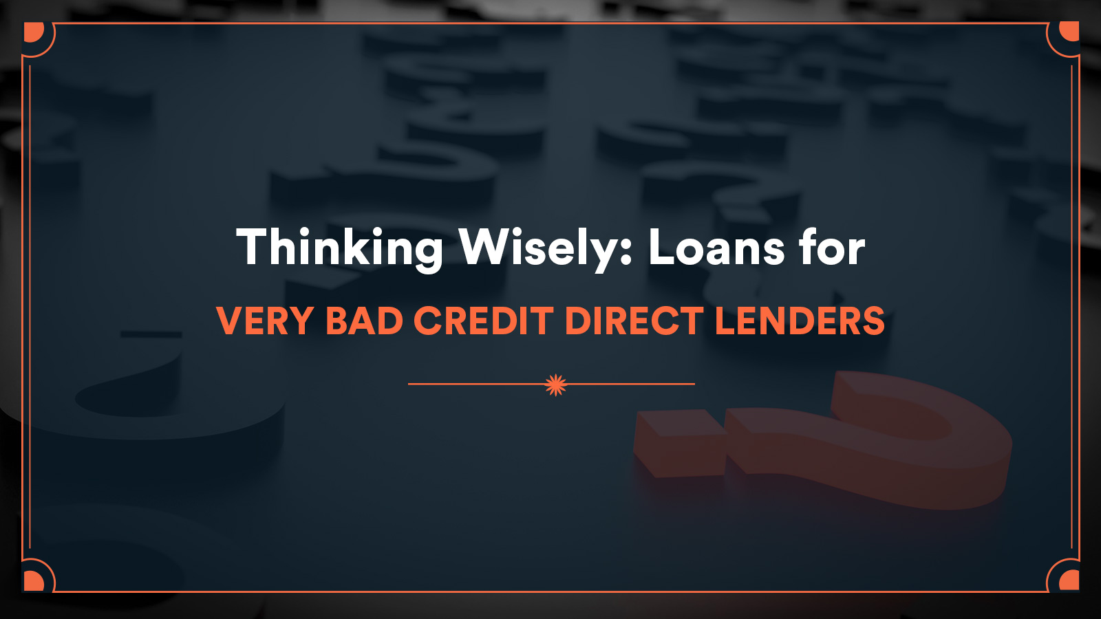 loans for very bad credit direct lenders